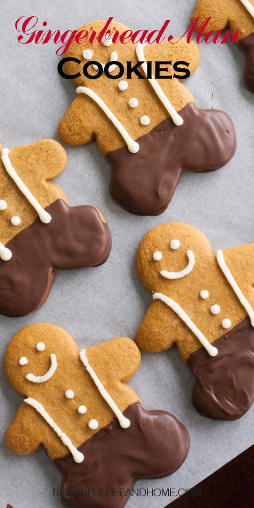 Soft Gingerbread Man Cookies for Christmas