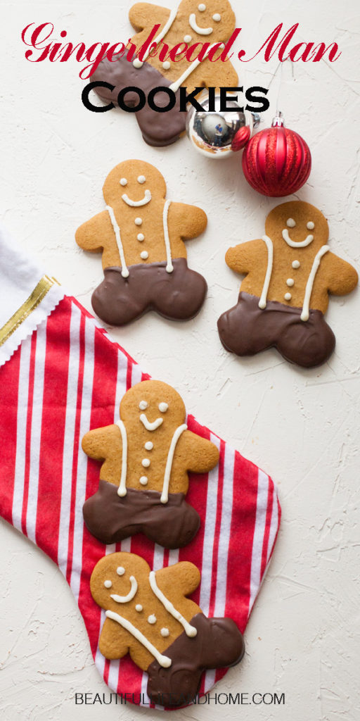 Super soft, big Gingerbread Man Cookies dipped in chocolate!