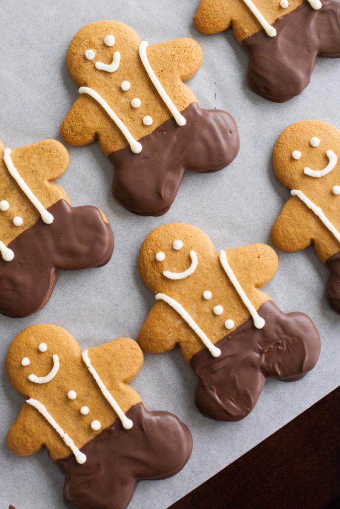 Chocolate-dipped Gingerbread Men
