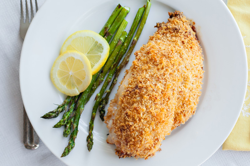 Fully cooked and plated Chicken Cordon Bleu