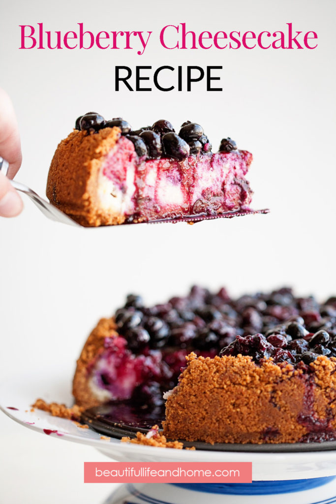 Blueberry Cheesecake with blueberry topping!
