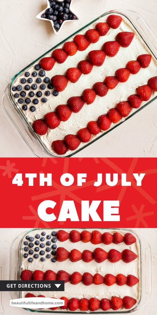 Make this super easy 4th of July or Flag Cake for all your patriotic celebrations and American holidays!