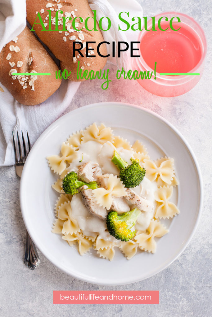 Alfredo sauce is one of those things that can seem intimidating, but it's actually really easy to make! My classic recipe cuts way down on the fat content by using milk instead of heavy whipping cream like in a traditional Alfredo sauce. But you still get a silky smooth creamy consistency. And, it's something the whole family will love.
